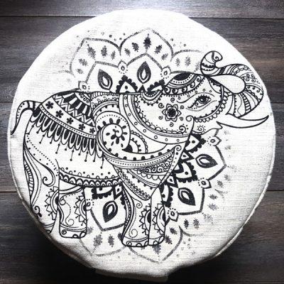 Éléphant Mandala Coussin de méditation Mon Coussin Zen